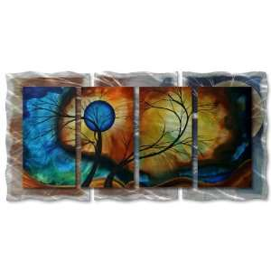 48x24 Megan Duncanson moon whisper modern home decor, metal wall art