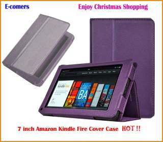 Pink Leather 7 Cover Case For  Kindle Fire Tablet + USB Cable