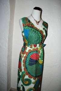 Unique Vintage Vtg ALFRED SHAHEEN 60s 70s Hawaiian Sequined Maxi Dress