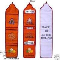 Wall hanging LETTER HOLDER (has three compartments)
