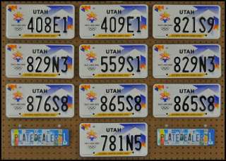 10 UTAH Olympic Winter Games License Plates BULK LOT