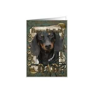Happy Birthday Dad   Dachshund   Winston   Stone Paws Card