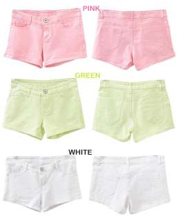 2012 Casual Candy Colours Denim Cotton Shorts low waisted HotPants