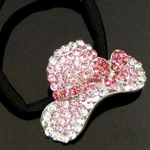Item  1pc rhinestone crystal Cap hair scrunchie ponytail
