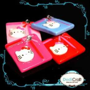 B1670 (25 pcs) HELLO KITTY Gift Box Set Ribbon Resin Flatback Bling