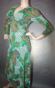 JACK HARTLEY COUTURE VtG 60s SHiFT OP ART MOD PAISLEY PARTY RETRO