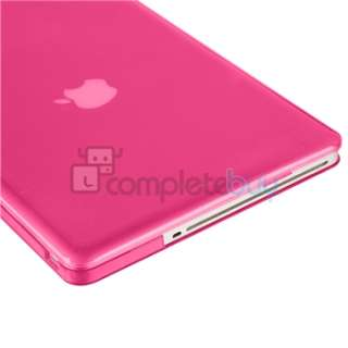 Crystal +Pink Snap On Hard Skin Case Cover For Macbook Pro 13 inch