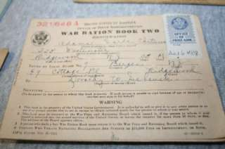 WW2 RATION BOOK W/ STAMPS & USAAF US ARMY AIR FORCE PILOT FLIGHT HOUR