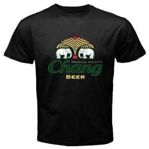 Chang Beer Logo New Black T shirt Size 3XL