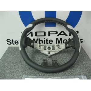 DODGE CHALLENGER CHARGER CUSTOM STEERING WHEEL SILVER GRIPS STICHING