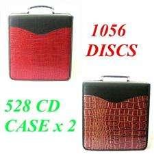 Croc 528 520 CD DVD Metal 3 Ring Storage Binder Case Wallet ss