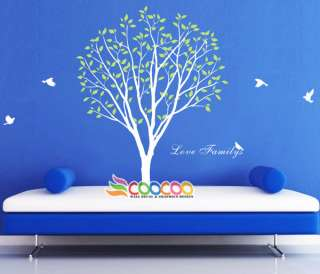 Wall Decor Decal Sticker Mural Removable vinyl large tree birds love