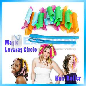 Hair Curlers Curlformers Spiral Ringlets Perm Hairband Magic Leverage