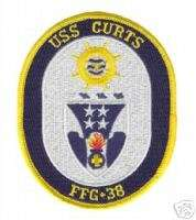 USS CURTS FFG 38 USN NAVY MILITARY CREW WAR SHIP PATCH