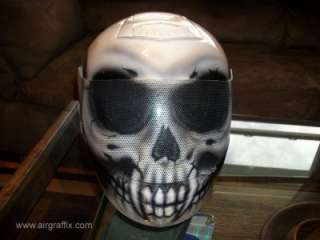 Custom Painted Airbrushed Glow in the Dark Skull Z1R Any size Helmet