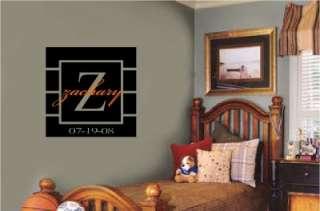 Custom Monogram Vinyl Decal Wall Words Stickers Letters Racing Room