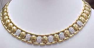 Designer SALVINI 18K Yellow Gold 4.5ct Diamond Necklace