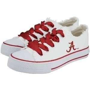 Alabama Crimson Tide White Ladies Spirit Sneakers