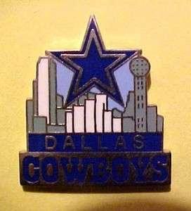 Dallas Cowboys Skyline Football FB Logo NFL Pin