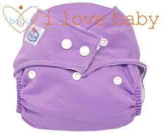 Baby Reusable Cloth Pocket Diaper Nappy + 6 Inserts