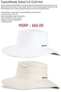 NWT TaylorMade Safari 2.0 Golf Bucket Hat White S/M MSRP $60 |
