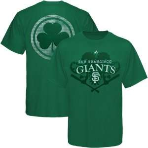 Majestic San Francisco Giants Celtic Catch T Shirt   Green