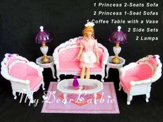 NEW Princess Furniture Sofa Set for Barbie Dolls #S44
