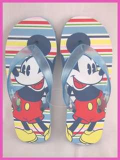 New DISNEY Womens Mickey Mouse Flip Flops Sandals Sz 6