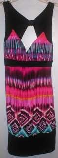 NWT ~ Rue 21 ~ Multi colored open back dress, L