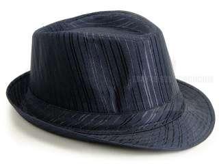 New Multi color mens stripe Tuxedo Dress fedora hat fashion