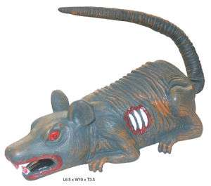 Animated Rolling Rat Halloween Decoration Prop NEW