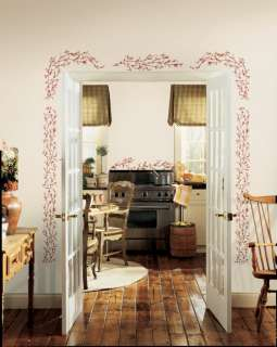 Berries Vines Wall Decals Berry Stickers Decor 034878677644