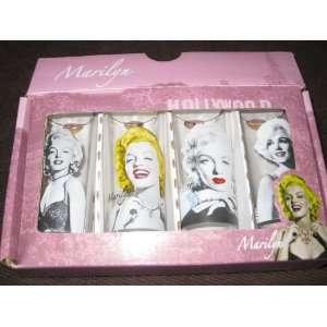 Marilyn Monroe 4 Different Shooter Shot Glasses