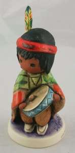 Vintage DeGrazia Pima Indian Drummer Boy Goebel Figurine Germany 1983