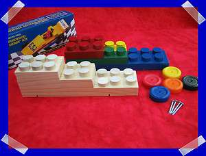 PINEWOOD DERBY LEGO BLOCK CAR KIT YOU BUILD & PAINT CUB SCOUT