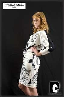LEONARD PARIS Women Vtg DRESS Gown w BELT Sz M