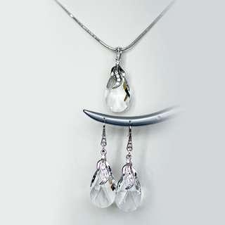 Swarovski 22mm Clear Teardrop Crystal Luxury Earrings