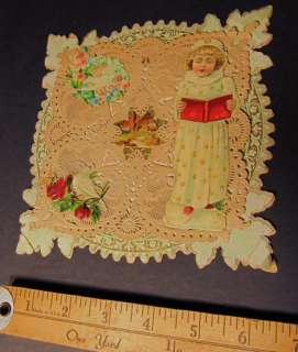 NICE Victorian Valentine Card 1900  3D Diecut Pullout
