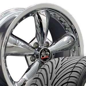 Bullitt Style Deep Dish Wheels and Tires with RivetsFits