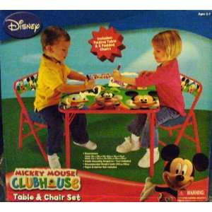 DISNEY Mickey Mouse Clubhouse Kids Table & Padded Chairs