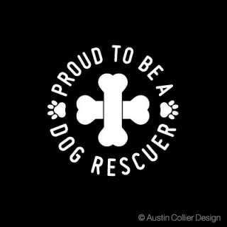 DOG RESCUER Vinyl Decal Car Window Sticker   Rescue Dog