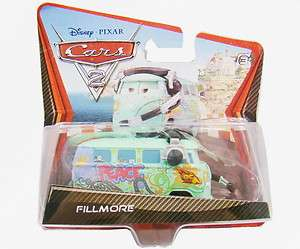 Brand NEw Disney Pixar Cars Mini Bus Toy VW Fillmore Camper Van with
