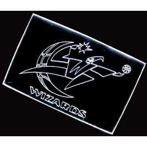 NBA Washington Wizards Team Logo Neon Light Sign (White