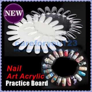 Acrylic Practice DIY Nail Display Tool 1x Nail Art Round Wheel Board