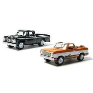Dodge 2 Pack  1966 Dodge D 100 CSS/HPP Black & 1978 Dodge Ramcharger