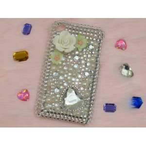 Heart Rhinestone Bling Case for iPhone 3GS Cell Phones & Accessories