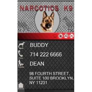 Custom ID Badge   1 Dogs Custom ID Badge   Design#3   Vertical Pet