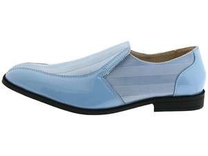Stacy Adams Mens Regalia Light Blue Slip on Bicycle Toe Dress Shoe