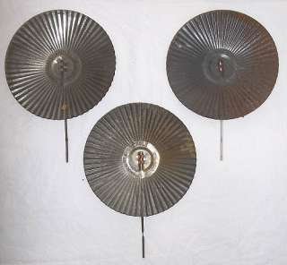 LOT of 3 VINTAGE EAGLE TIN OIL LAMP REFLECTORS