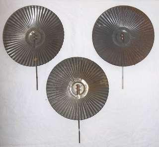 LOT of 3 VINTAGE EAGLE TIN OIL LAMP REFLECTORS